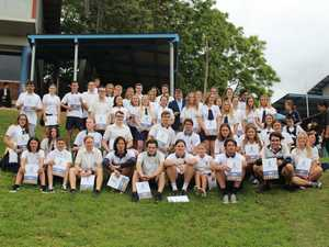The Murwillumbah High School Class of 2018 celebrate