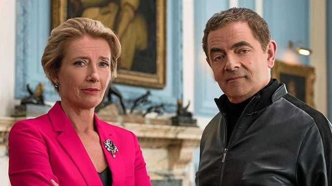 BACK AGAIN: Emma Thompson and Rowan Atkinson in Johnny English Strikes Again.
