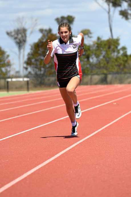Kharla Hills broke a 34 year-old athletics record.
