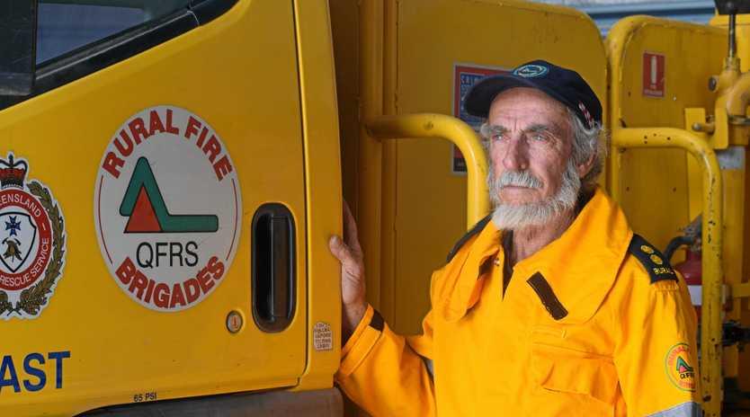 Queensland Rural Fire Service Woolooga first officer Denis Banks.