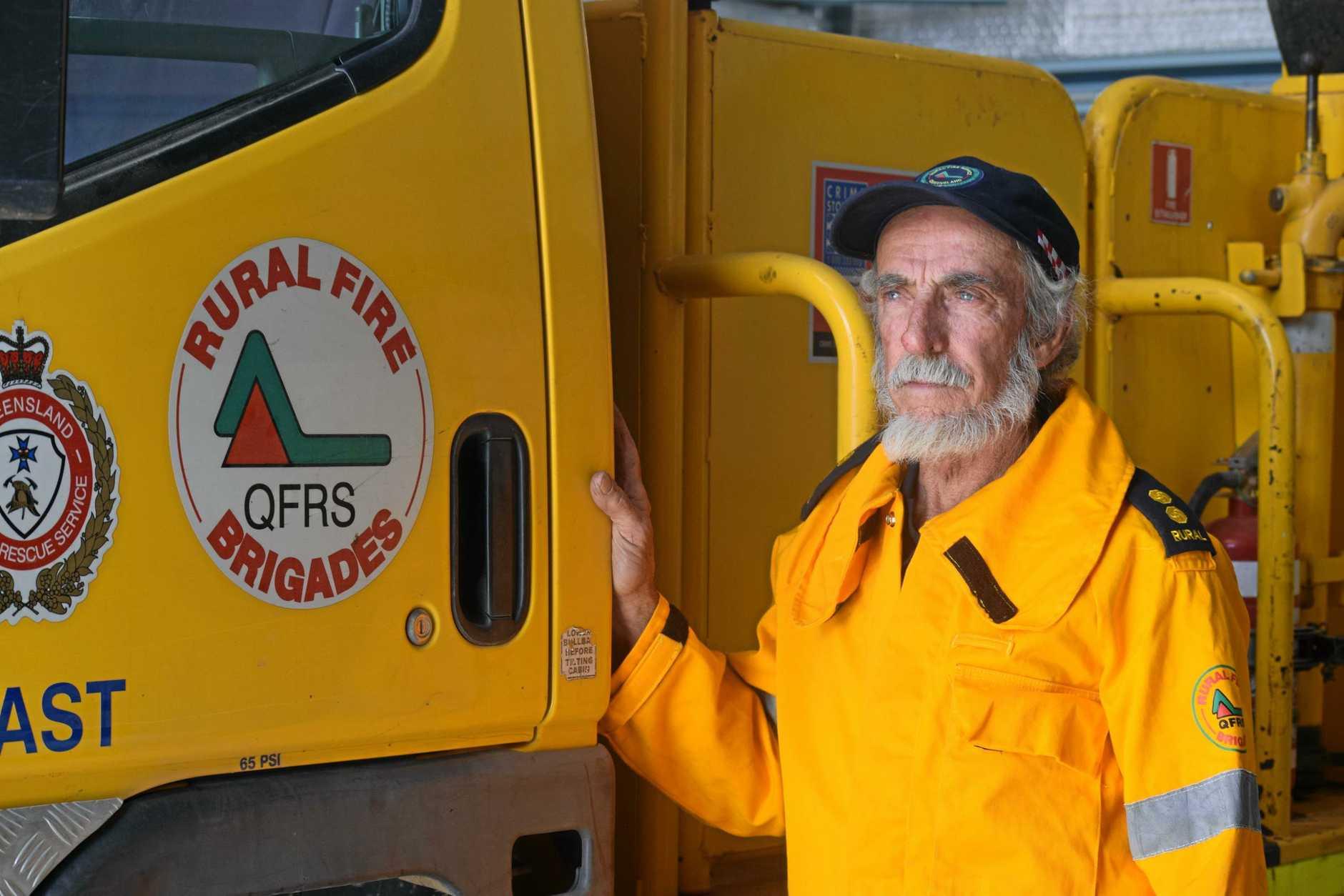 Queesnalnd Rural Fire Service Woolooga first officer Denis Banks