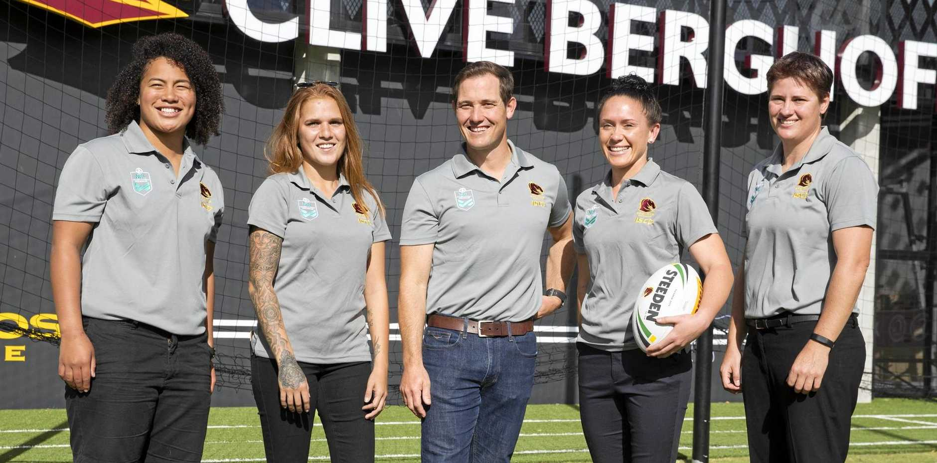 Brisbane Broncos' women's coach Paul Dyer.