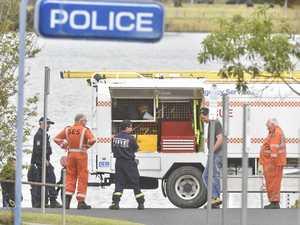 Maclean crime scene: police divers arrive