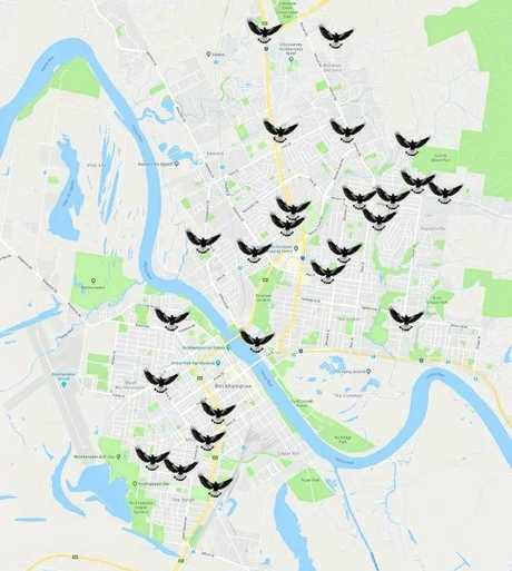 Magpie map