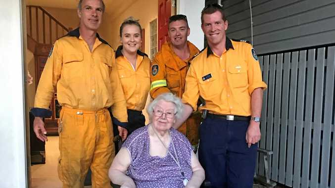 The Murwillumbah RFS was more than happy to help an elderly woman up and down the stairs of her daughter's home in Tumbulgum.