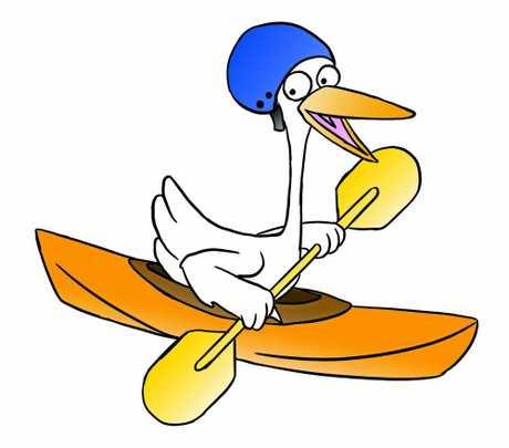 Crane enjoys kayaking
