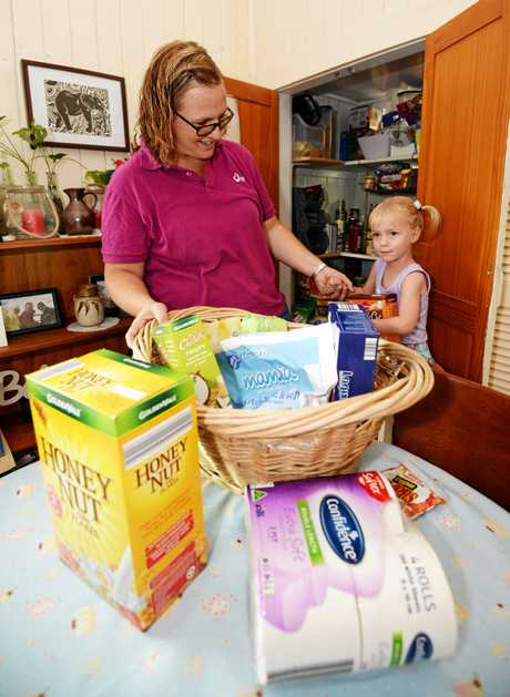 Sally Hancock and daughter Matilda are excited for ALDI to come to Rockhampton.