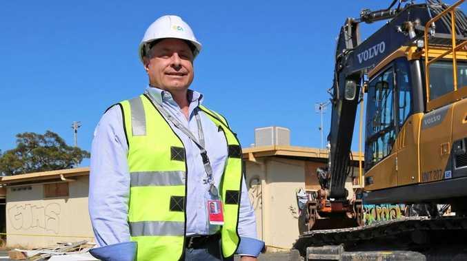 Queensland Airports' Carl Bruhn says demolition work has begun at the former Border Park raceway.