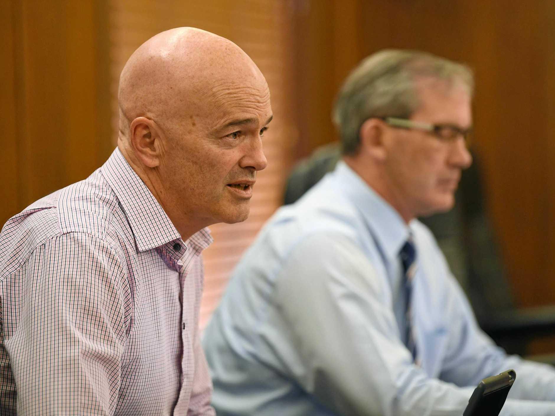 CEO Bernard Smith and Mayor Mick Curran.
