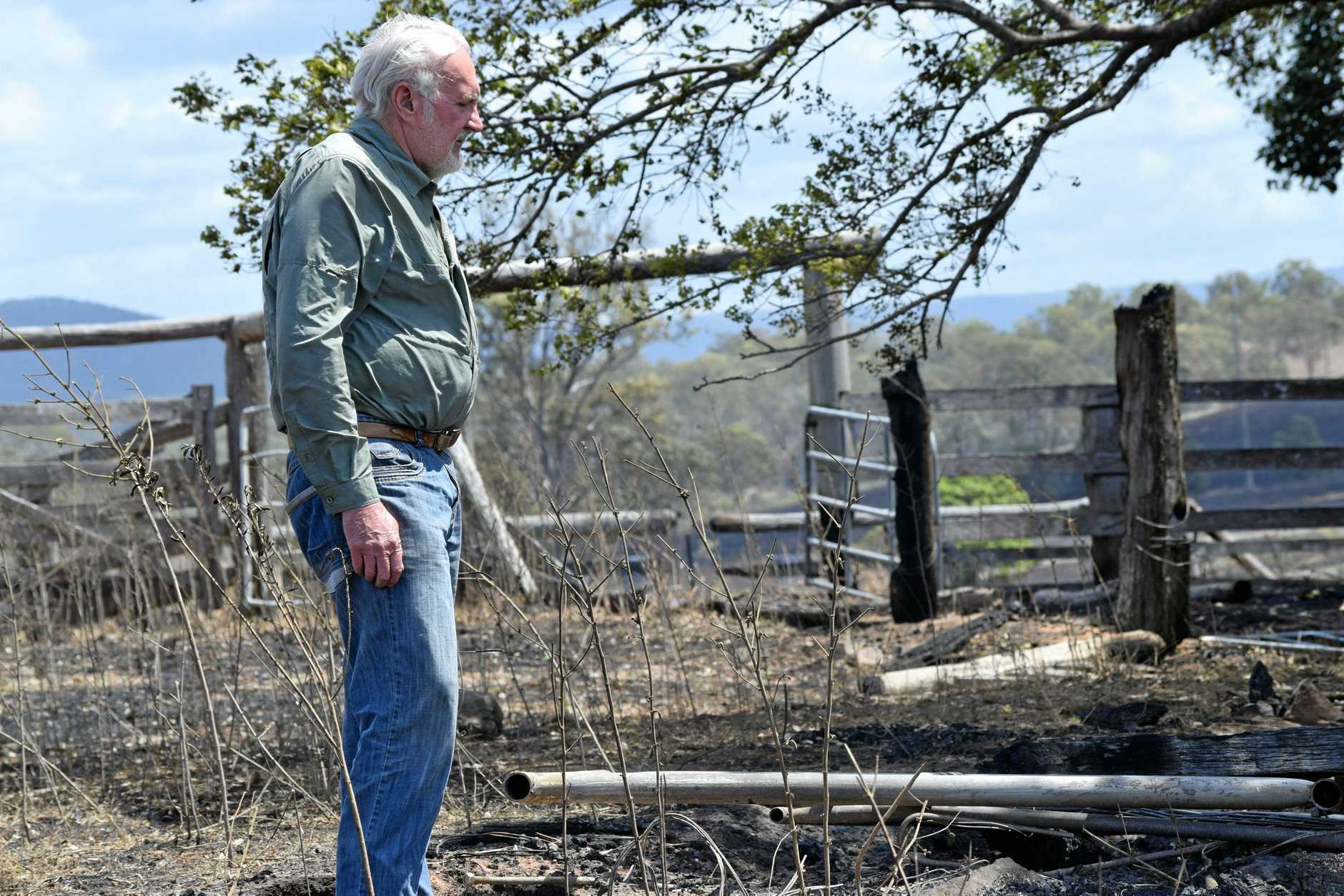 DESTRUCTION: Terry Rauchle is devastated after losing cattle and almost 4,000 acres of grazing land.