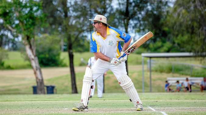 AT THE CREASE: Jamian Currin at the one day Gympie cricket grand final last season.