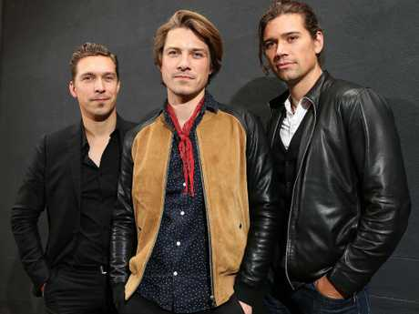 The Hanson brothers Zac, Taylor and Isaac. Picture: Carly Earl