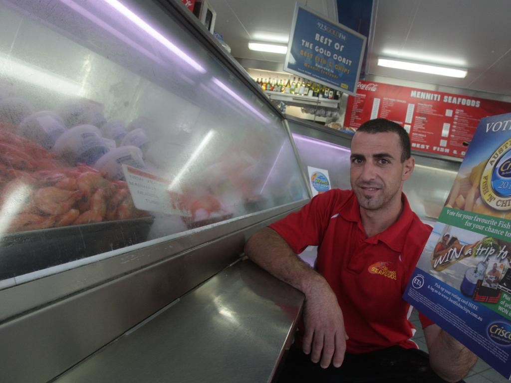 Joseph Palermo pictured while he was operating Menniti Seafoods in Tweed Heads.