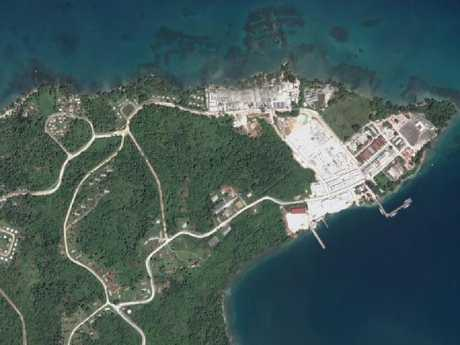 The military base established on Manus Island during World War II has suddenly become of interest to both Beijing and Canberra. Picture: Google Earth