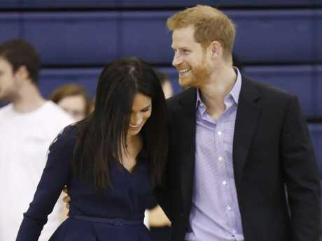 Harry and Meghan looked to be enjoying themselves at the event. Picture: Getty Images