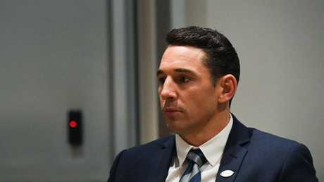 Billy Slater during the judiciary hearing. (AAP Image/Brendan Esposito)