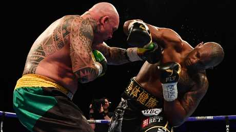 Lucas Browne suffered a brutal knockout - the first of his career - in his last fight. Picture: Getty