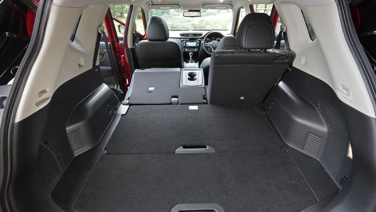 The Nissan X-Trail TL's cavernous boot is accessed via a hands-free tailgate.