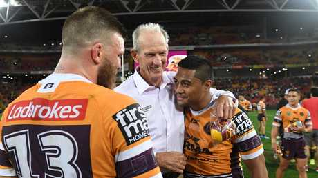 Broncos coach Wayne Bennett was backed by players at the club but it hasn't saved him. Picture: AAP
