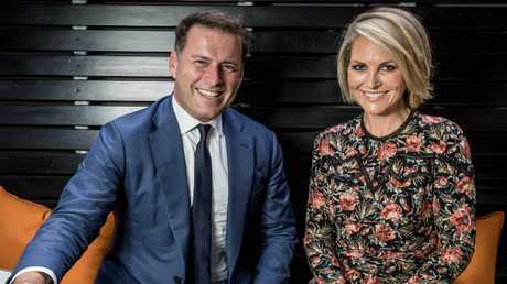 There are problems on screen as well, with a genuine awkwardness between Karl Stefanovic and Today co-host Georgie Gardiner. Picture: Jake Nowakowski