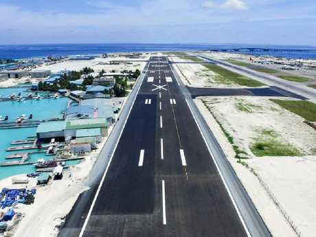 The new runway of Velana International Airport in Male, Maldives. Picture: Xinhua