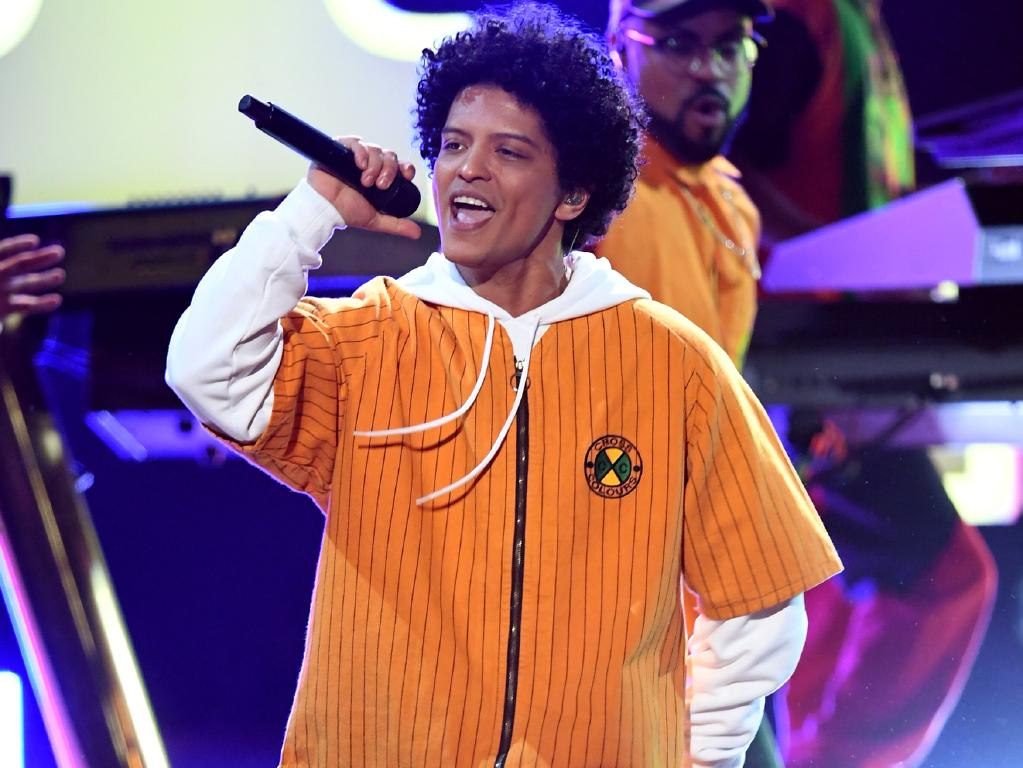 Two men fought over recording artist Bruno Mars's song catalogue, resulting in the arrest of a 71-year-old man. Picture: Kevin Winter/Getty Images/NARAS