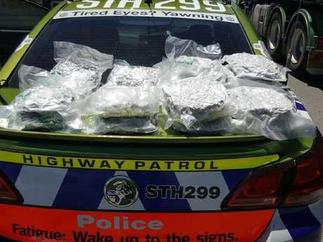NSW Police seized close to 10kg of illicit drugs in January from a truck travelling on the Hume Highway. Picture: NSW Police