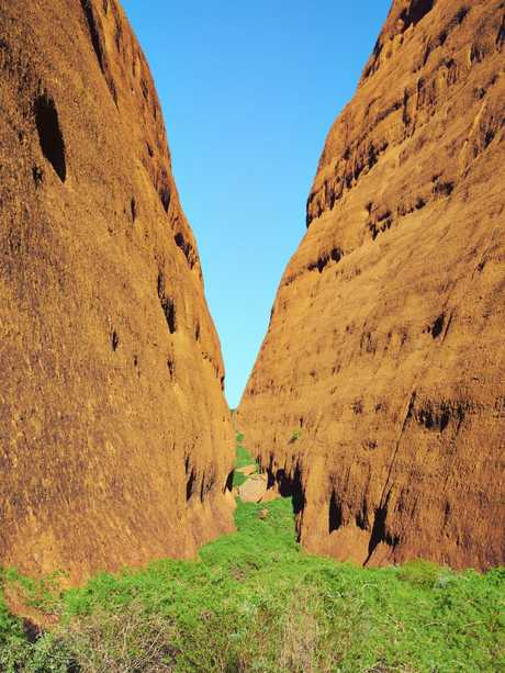 Walpa Gorge at Kata Tjuta National Park is a spectacular sandstone monolith. Picture: iStock