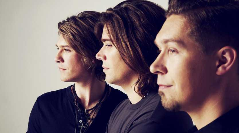 US band Hanson are touring again. L-R: Taylor, Zac and Isaac