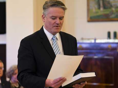 Mathias Cormann at Government House in Canberra. Picture: AAP
