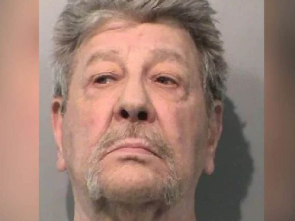 Roger Washburn, 71, was taken into police custody after pistol-whipping a friend in an argument over a Bruno Mars song. Picture: Johnson County Sheriff
