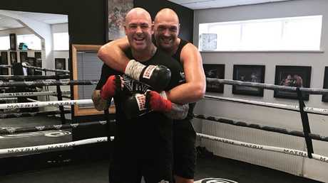 Lucas Browne has been helping Tyson Fury during sparring.