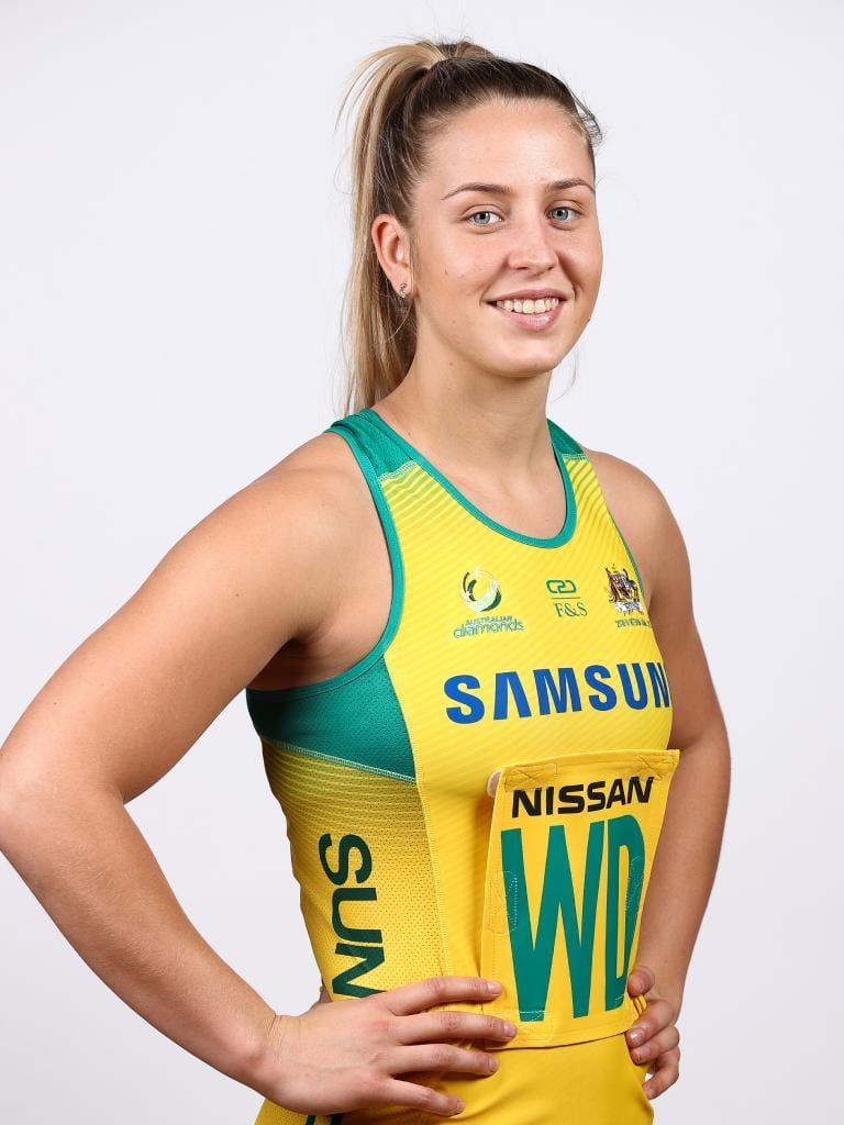 Jamie-Lee Price in Australian colours.