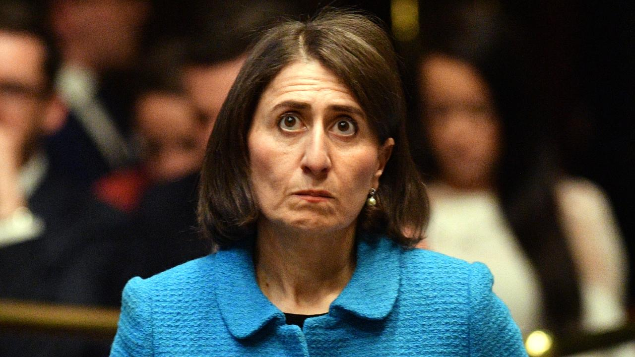 Gladys Berejiklian, pictured in the NSW Legislative Assembly on Tuesday, ignored reports sceptical about the success of a light rail project, but pushed ahead regardless. Picture: Mick Tsikas/AAP
