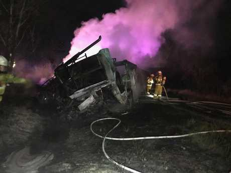 Hume Highway truck fire