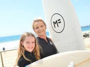 Grace and Alexia Sara at Alexandra Headland enjoying