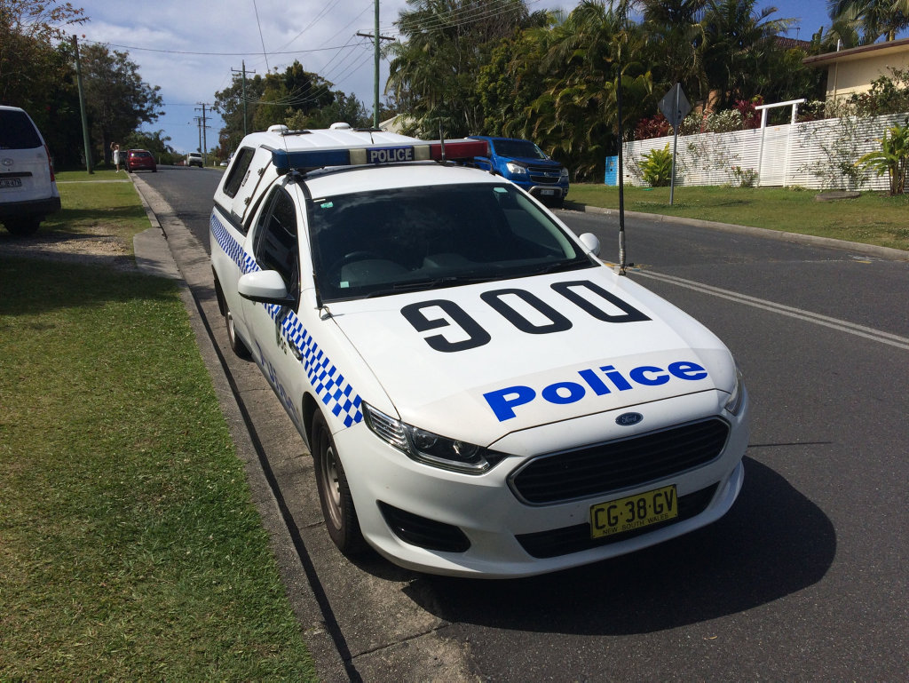 A manhunt is under way in Byron Bay this afternoon.