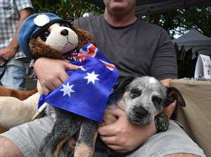 Craig Moore with his blue heeler puppy 'Fred