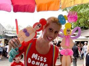 Holiday socials at the Eumundi Markets.Miss Donna the