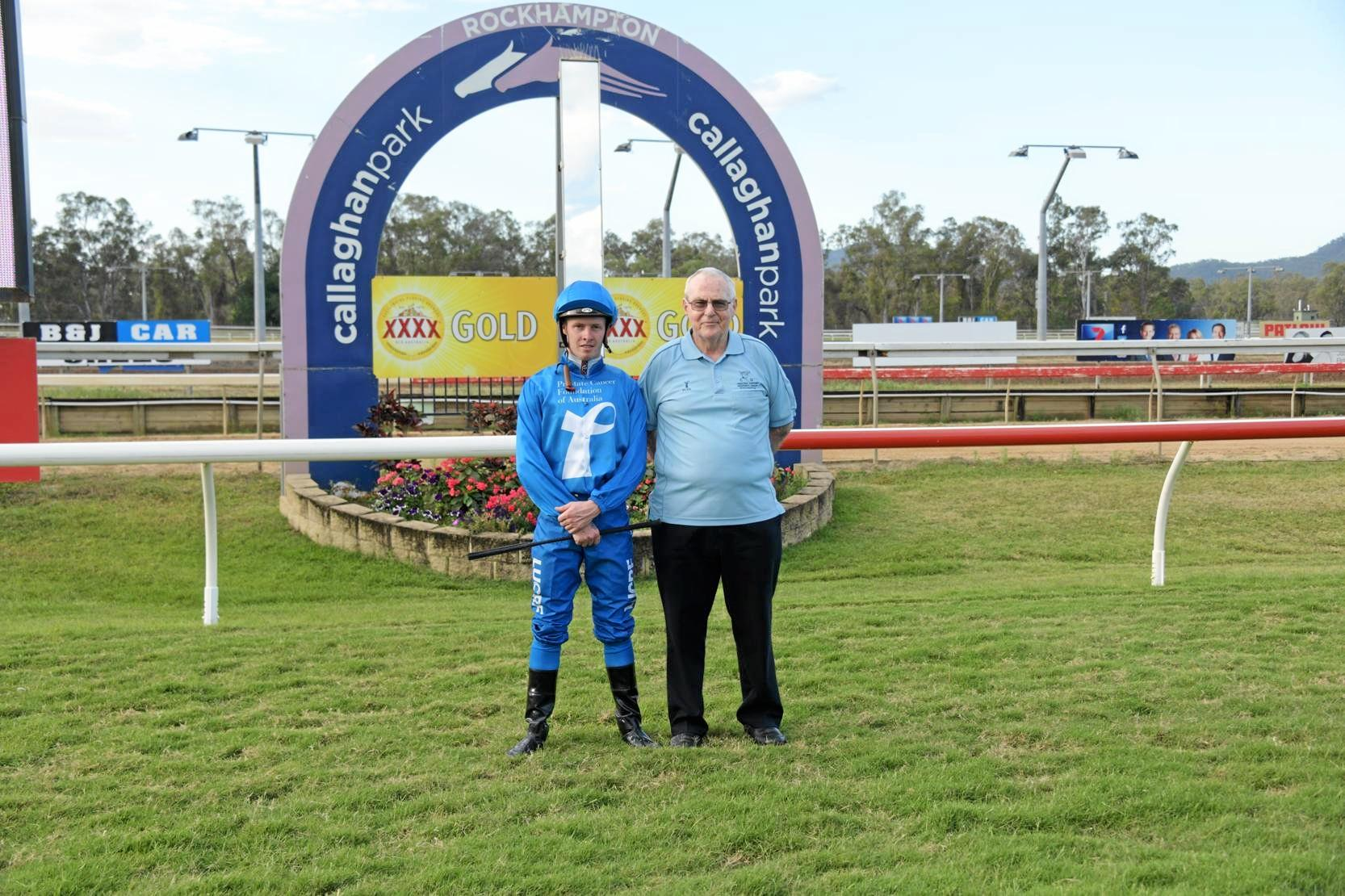 LEND YOUR SUPPORT: Jockey Les