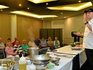 Matt Golinski veterans' cooking class