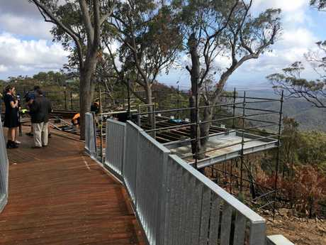PROGRESSING WELL: A sealed walkway will lead to the second viewing platform.