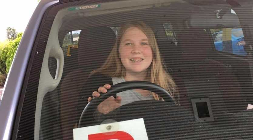 SUCCESS: Amy Gale after passing her driving test.