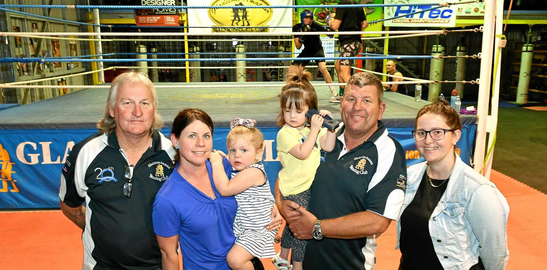 CHARITY SUPPORT: Bike ride organiser Gary Anderson, Robin Berthelsen and Bella Bates with Olivia Hancock nursed by Mick Daly and mum Megan Bale were given the money donation from the charity events.