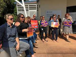 Gympie child safety workers strike