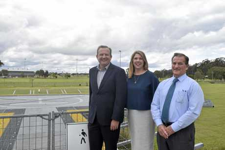 MONEY PROMISED: Page Labor candidate Patrick Deegan, Federal Shadow Health Minister Catherine King and Clarence Valley Council Mayor Jim Simmons.