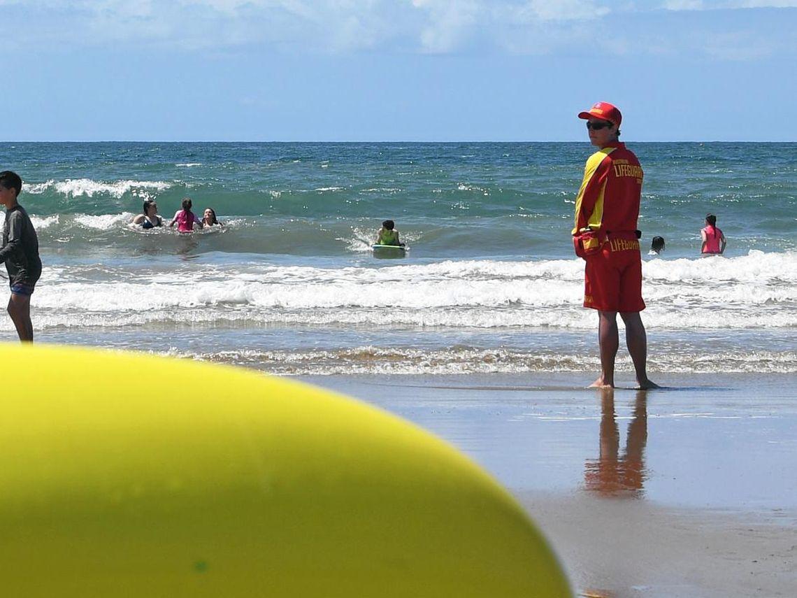 Lifeguard Jacob Crothers at Nielson Park Beach.