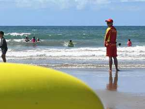 INCREDIBLE SAVE: Rookie lifeguard rescues three kids in rip