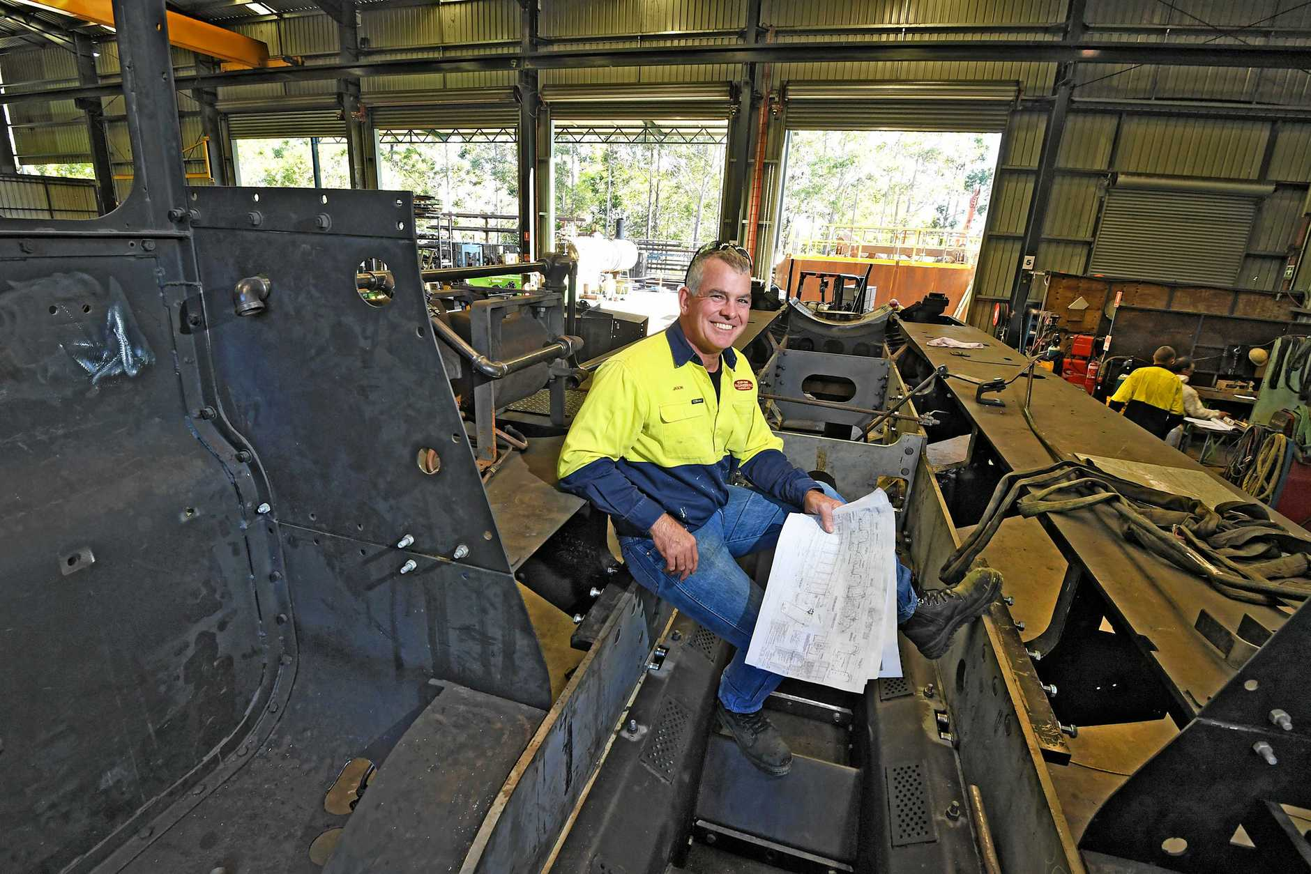 CPM Engineering from Gympie working on the Rattler Jason McPherson.