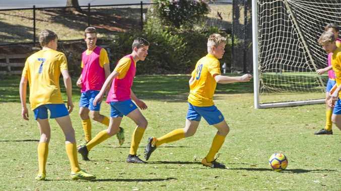 Toowoomba Grammar Schools Bill Turner Cup team train ahead of their national semi-final match with Bossley Park High School. Thursday, 3oth Aug, 2018.